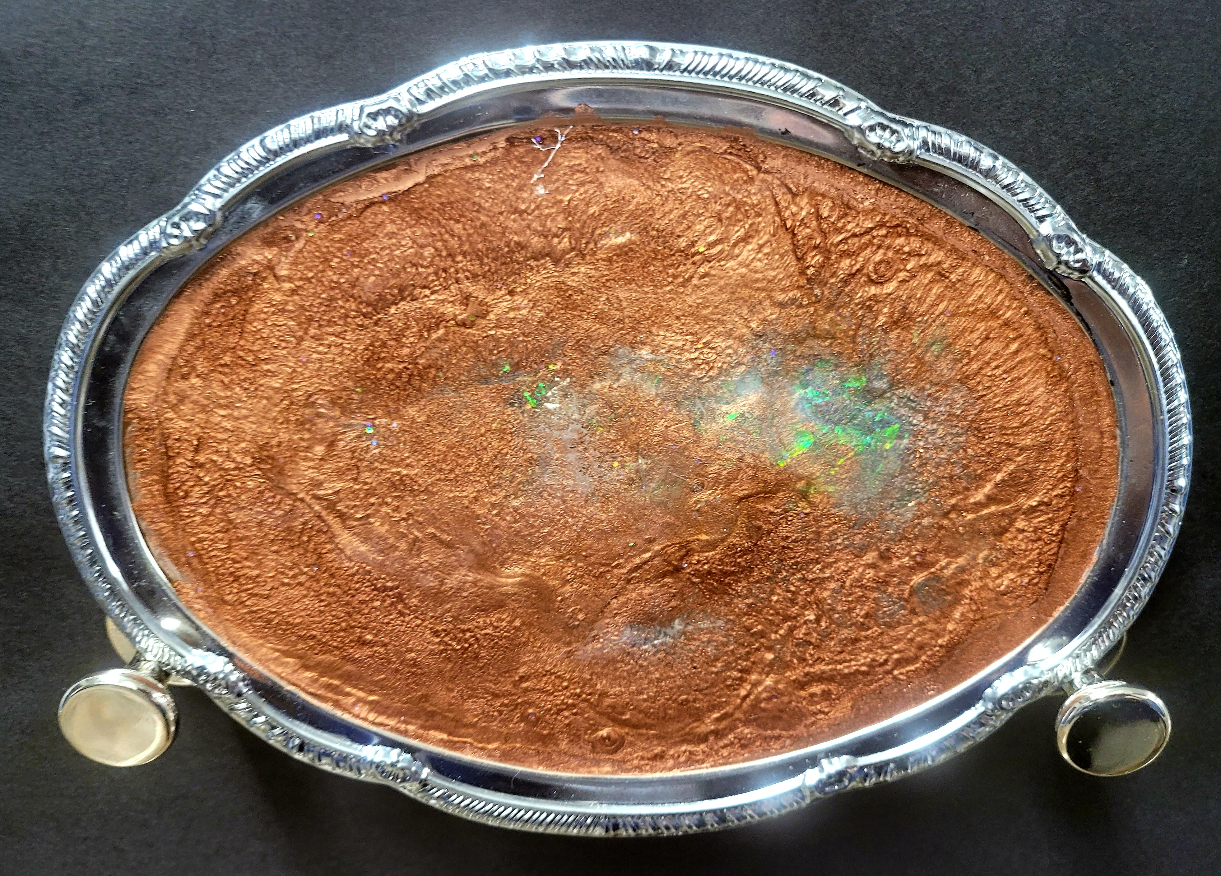 Copper Fire Opal Vanity Tray