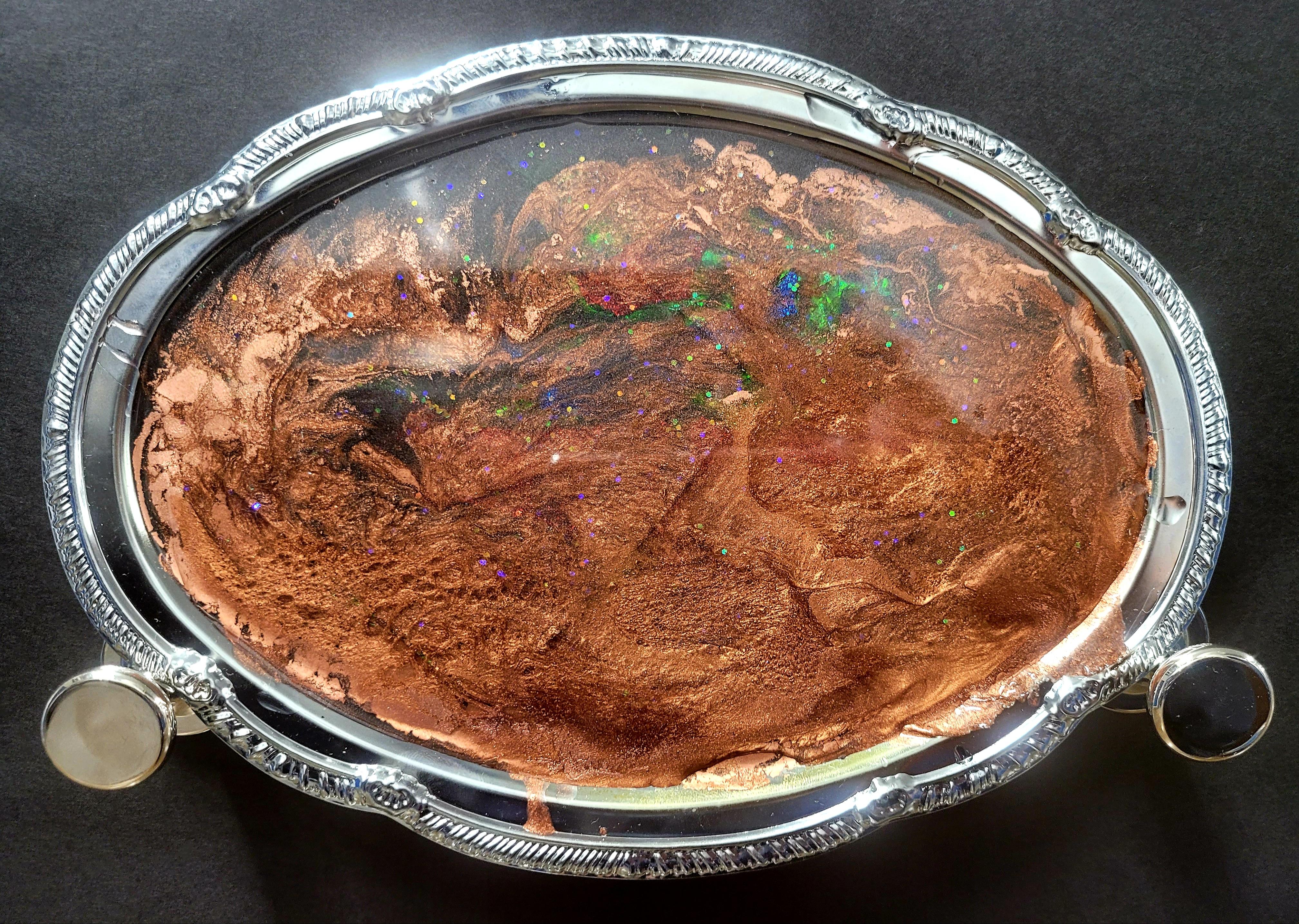 Deep Copper Fire Opal Vanity Tray