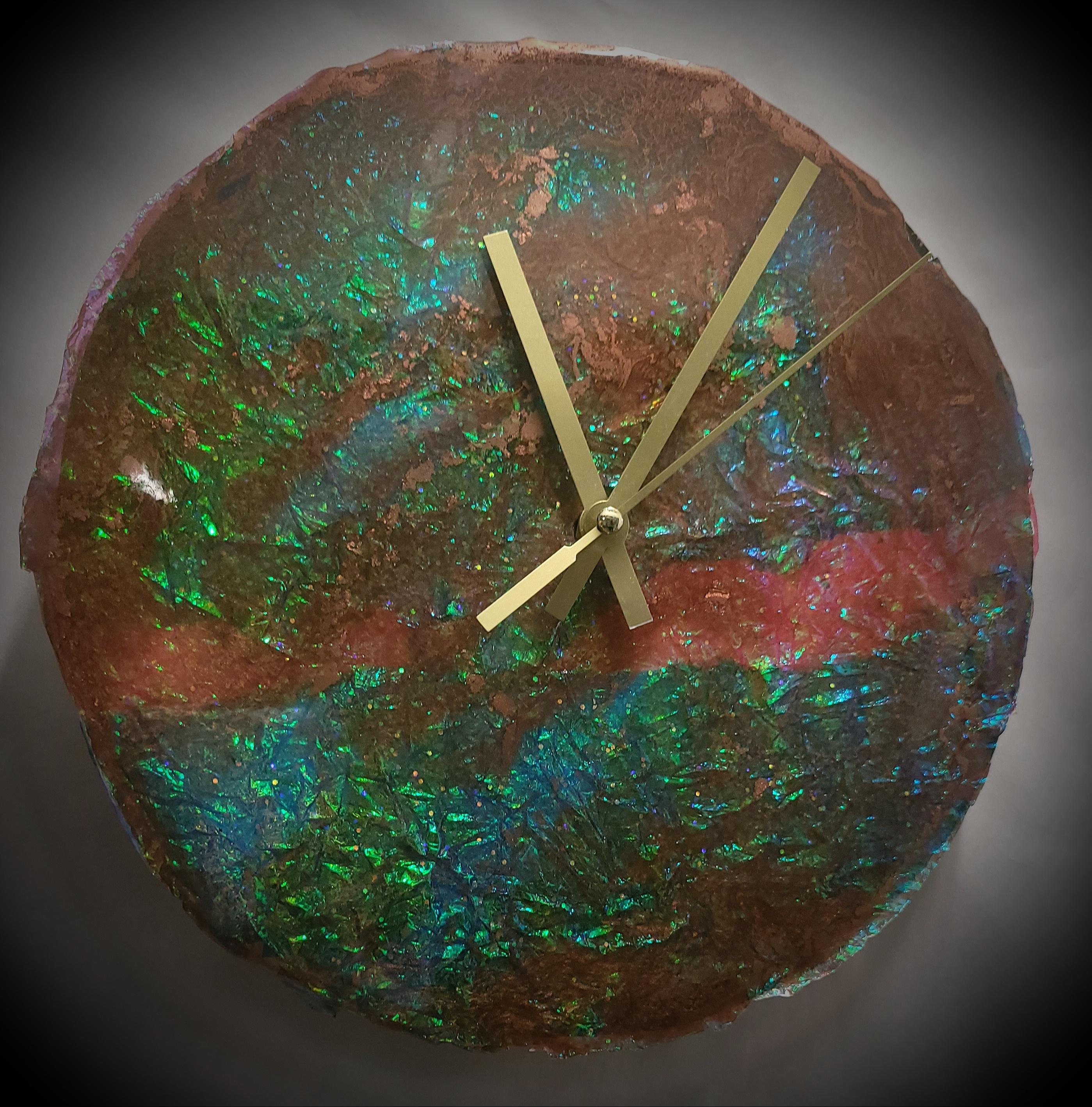 Timeless Opal Clock