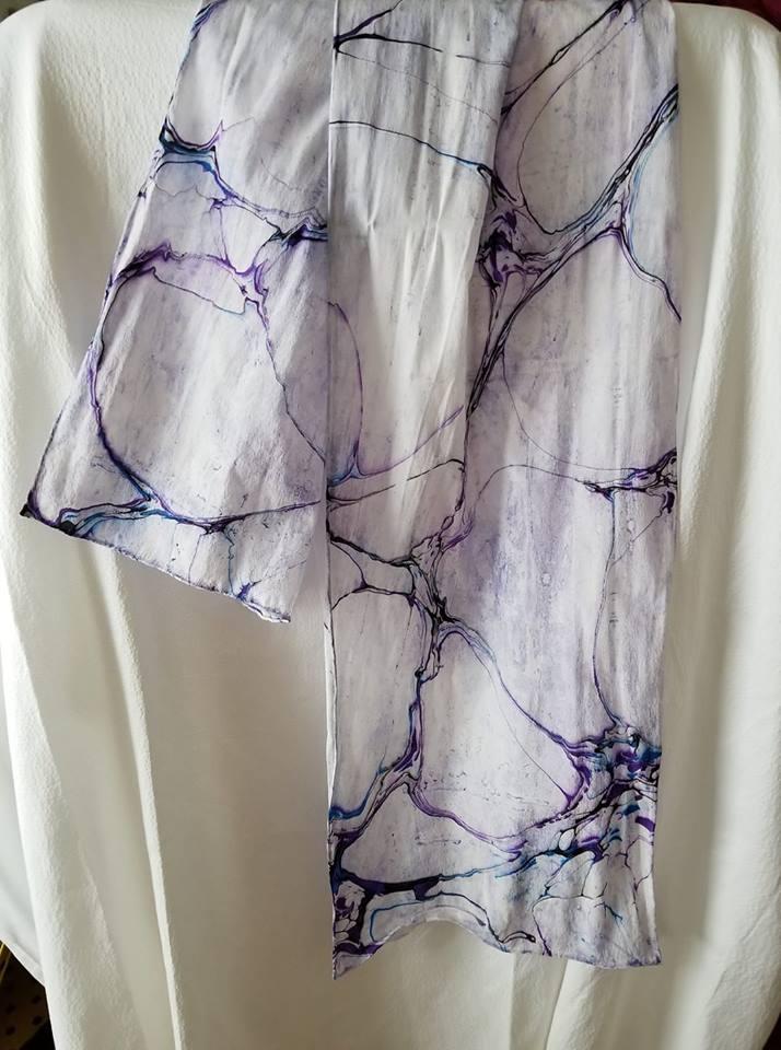Ebru Silk Scarf 2